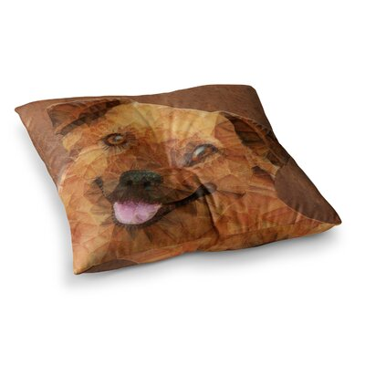 Abstract Puppy Geometric by Ancello Floor Pillow Size: 23 x 23