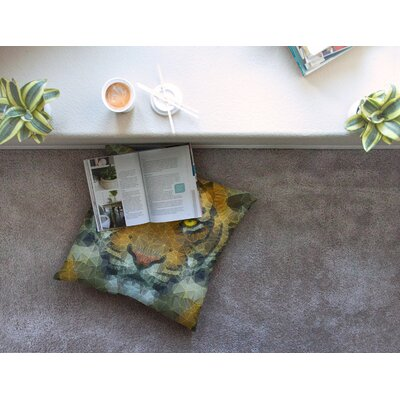 Be Wild Geometric by Ancello Floor Pillow Size: 23 x 23