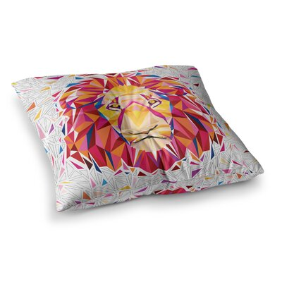 Rainbow Lion Digital by Ancello Floor Pillow Size: 26 x 26