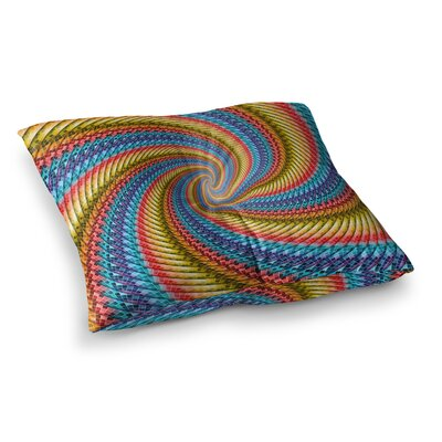 Round Spirals Digital by Ancello Floor Pillow Size: 23 x 23