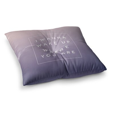 Wake Up by Galaxy Eyes Floor Pillow Size: 26 x 26
