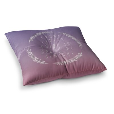 Little Thing by Galaxy Eyes Floor Pillow Size: 23 x 23