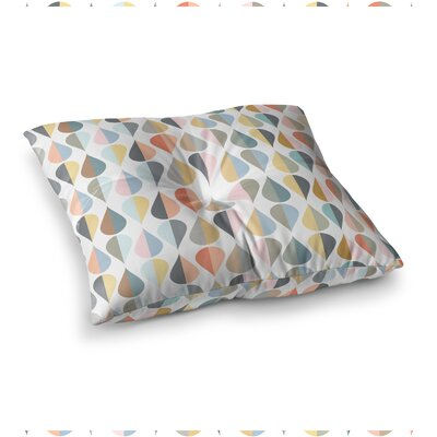 Tear Drops Illustration by Afe Images Floor Pillow Size: 26 x 26