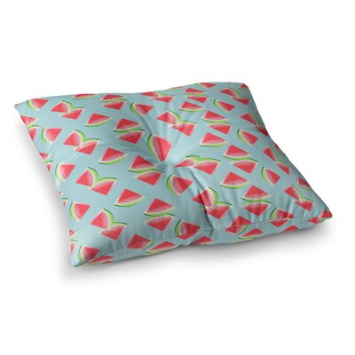 Watermelon Slices Pattern Illustration by Afe Images Floor Pillow Size: 23 x 23
