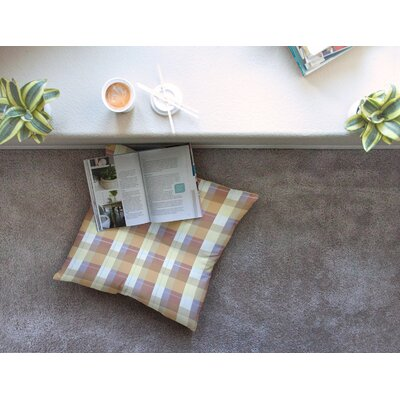 Plaid Pattern Illustration by Afe Images Floor Pillow Size: 23 x 23