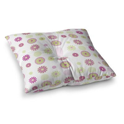 Floral Pattern Digital by Afe Images Floor Pillow Size: 23 x 23