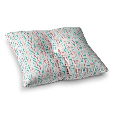 Abstract Pattern Illustration by Afe Images Floor Pillow Size: 23 x 23