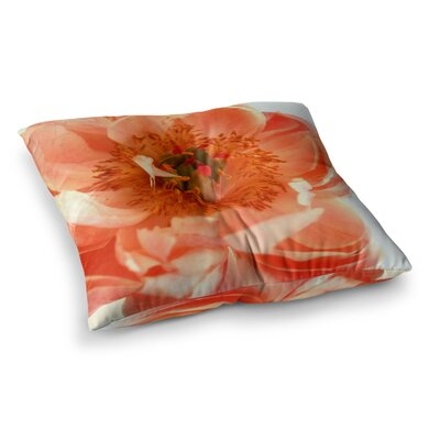 Blushing Peony by Pellerina Design Floor Pillow Size: 23 x 23