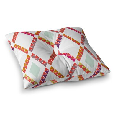 Aztec Diamonds Geometric by Pellerina Design Floor Pillow Size: 23 x 23