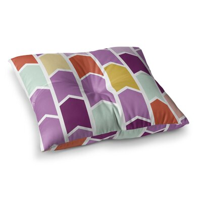 Orchid Geometric Chevron Arrows by Pellerina Design Floor Pillow Size: 23 x 23