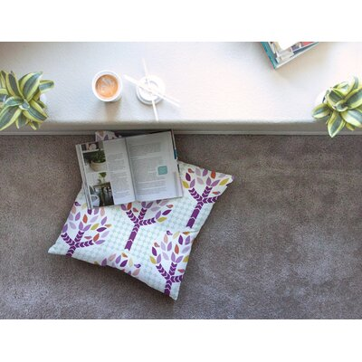 Orchid Spring Tree Abstract by Pellerina Design Floor Pillow Size: 23 x 23