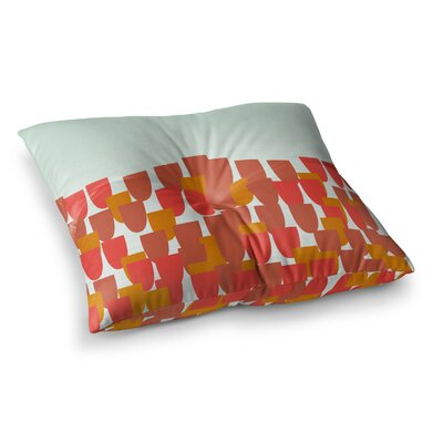 Sunrise Poppies by Pellerina Design Floor Pillow Size: 23 x 23