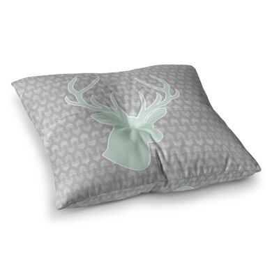 Winter Deer by Pellerina Design Floor Pillow Size: 26 x 26