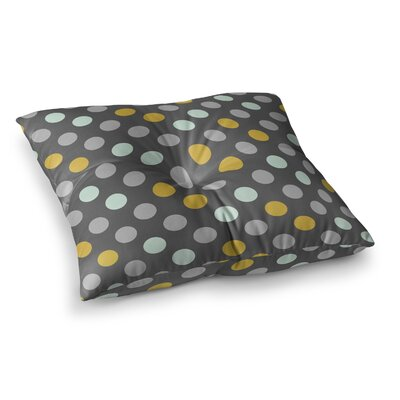 Minty Polka by Pellerina Design Floor Pillow Size: 23 x 23