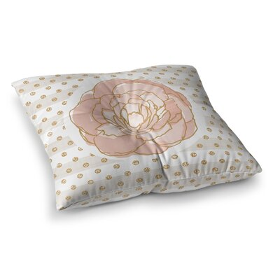 Watercolor Peony Floral by Pellerina Design Floor Pillow Size: 23 x 23