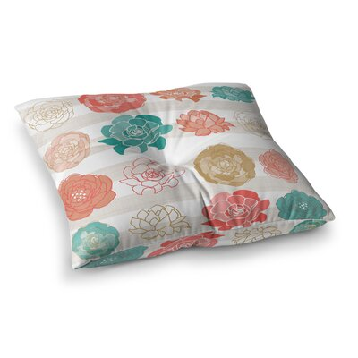 Flower Square by Pellerina Design Floor Pillow Size: 26 x 26