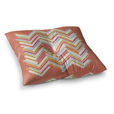 Herringbone Weave Bold Vector by Pellerina Design Floor Pillow Size: 26 x 26
