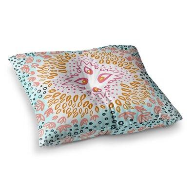 Fresh Spring Flower Burst Watercolor by Pellerina Design Floor Pillow Size: 26