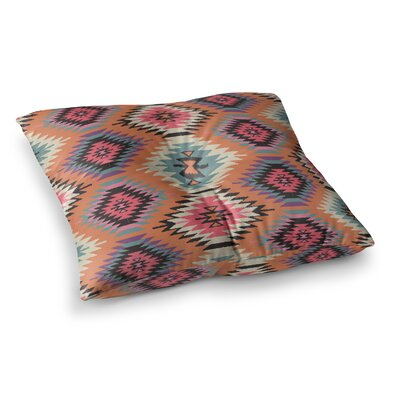 Navajo by Amanda Lane Floor Pillow Size: 23 x 23, Color: Orange/Pink