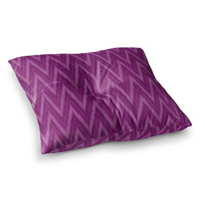 Plum Chevron Fuschia by Amanda Lane Floor Pillow Size: 26 x 26
