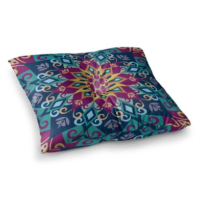 Blooming Mandala by Amanda Lane Floor Pillow Size: 26 x 26
