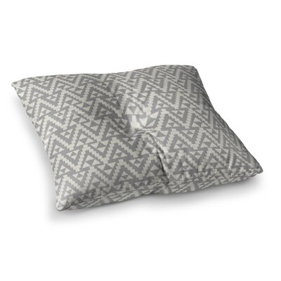 Geo Tribal by Amanda Lane Floor Pillow Size: 23 x 23, Color: Gray