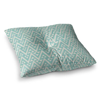 Geo Tribal by Amanda Lane Floor Pillow Size: 23 x 23, Color: Teal/Turquoise