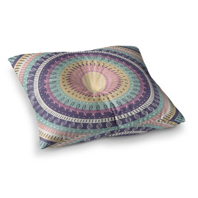 Bohemian Tribal Mandala Digital Illustration by Amanda Lane Floor Pillow Size: 23 x 23, Color: Multi