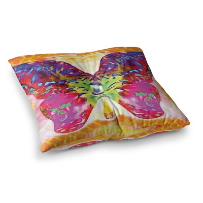 Butterfly Spirit by Anne LaBrie Floor Pillow Size: 26 x 26