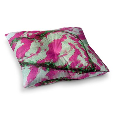 Tiger Love by Anne LaBrie Floor Pillow Size: 23 x 23, Color: Pink/Green