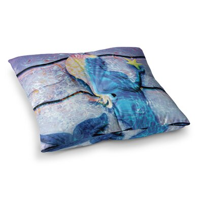 Mermaid Starlight by Anne LaBrie Floor Pillow Size: 23 x 23