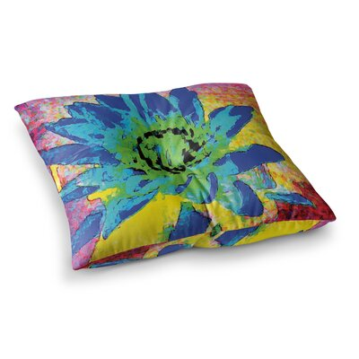 Wild Lotus Flower by Anne LaBrie Floor Pillow Size: 23 x 23