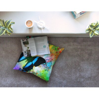 Colorful Butterfly by Alyzen Moonshadow Floor Pillow Size: 26 x 26
