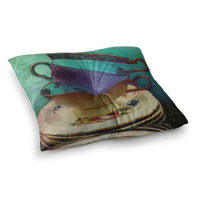 Mad Hatters T-Party I by Alyzen Moonshadow Floor Pillow Size: 23 x 23