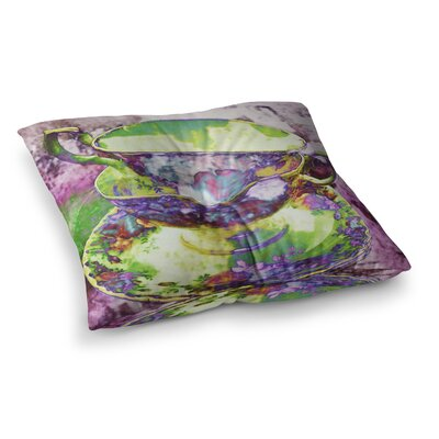 Mad Hatters T-Party II by Alyzen Moonshadow Floor Pillow Size: 26 x 26