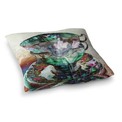 Mad Hatters T-Party III Abstract by Alyzen Moonshadow Floor Pillow Size: 26 x 26