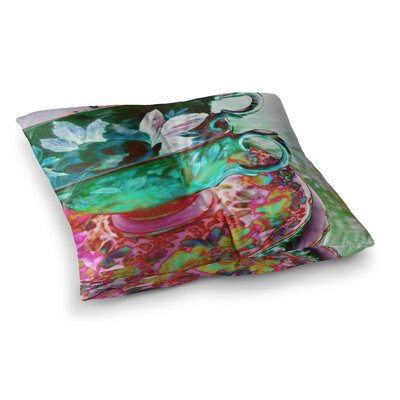 Mad Hatters T-Party IV by Alyzen Moonshadow Floor Pillow Size: 26 x 26
