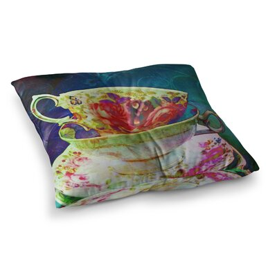 Mad Hatters T-Party V by Alyzen Moonshadow Floor Pillow Size: 23 x 23