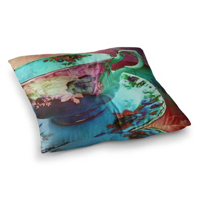 Mad Hatters T-Party VI by Alyzen Moonshadow Floor Pillow Size: 26 x 26