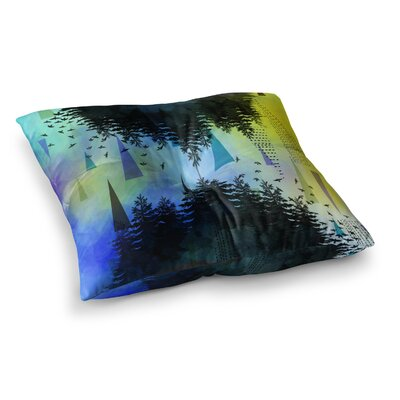 As Above, So Below by AlyZen Moonshadow Floor Pillow Size: 23 x 23, Color: Blue/Yellow