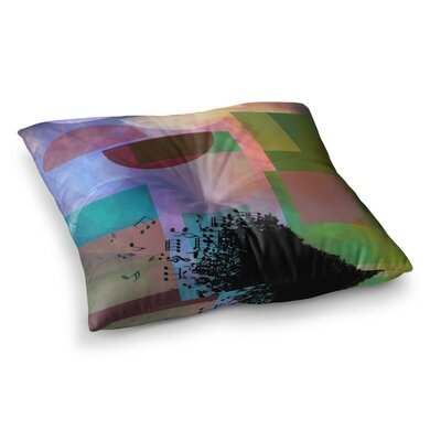 Baying at the Moon Geometric by Alyzen Moonshadow Floor Pillow Size: 26 x 26