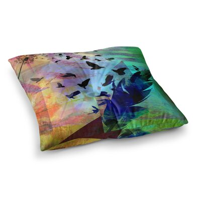 Not Quite Birds of a Feather by Alyzen Moonshadow Floor Pillow Size: 26 x 26
