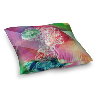 Silhouette by AlyZen Moonshadow Floor Pillow Size: 26 x 26, Color: Pink