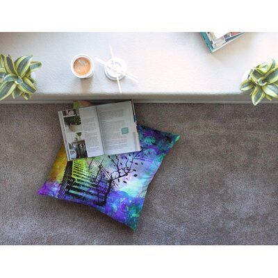 Stairway Tree by Alyzen Moonshadow Floor Pillow Size: 26 x 26