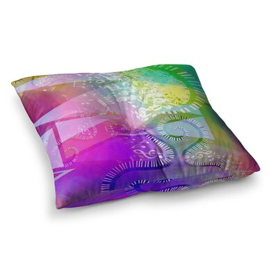 Musical Tendrils by Alyzen Moonshadow Floor Pillow Size: 23 x 23