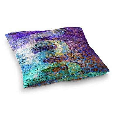 AlyZen Moonshadow ARCANE 2 Purple Blue Square Floor Pillow Size: 26 x 26