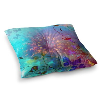 Illusion by Alyzen Moonshadow Floor Pillow Size: 26 x 26