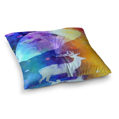Rain Deer by Alyzen Moonshadow Floor Pillow Size: 26 x 26