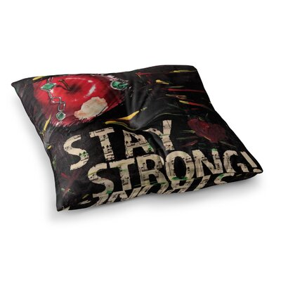 Stay Strong by Alexa Nicole Floor Pillow Size: 23 x 23