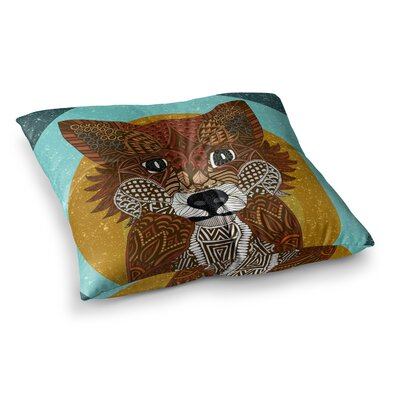 Colored Fox by Art Love Passion Floor Pillow Size: 26 x 26